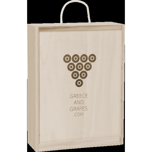 G&G Wooden box for 3 bottles (Closed)
