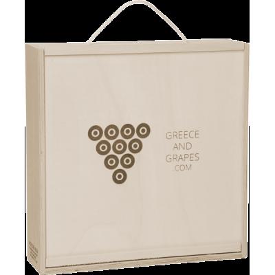 G&G Ξύλινο κουτί για 4 φιάλες