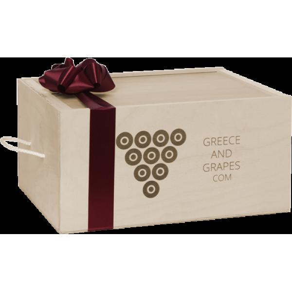 G&G Ξύλινο κουτί για 6 φιάλες
