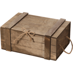 Wooden box for 3 bottles (Closed)