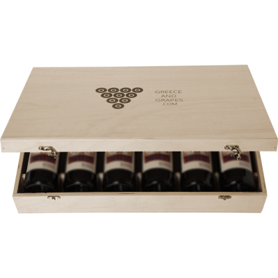 G&G Wooden box for 6 bottles (Flat)