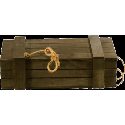 Ξύλινο κουτί για 2 φιάλες