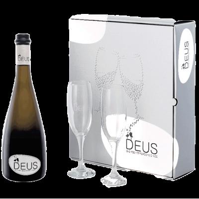 Cavino Deus Λευκό με ποτήρια