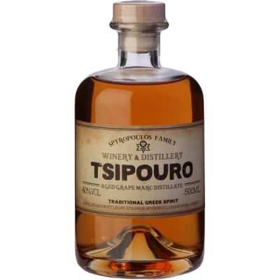 Aged grape marc distillate - Tsipouro 700ml