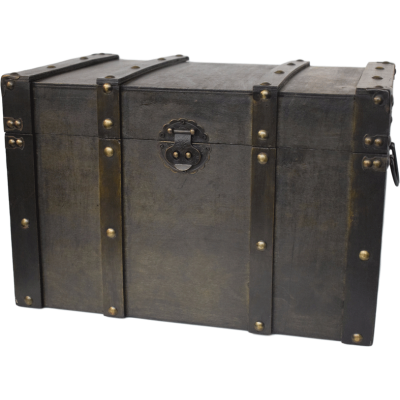 Big brown chest with buckles